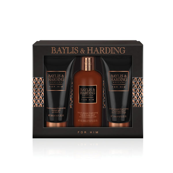 Baylis & Harding Black Pepper and Ginseng Grooming Trio Gift Set