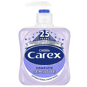 Carex Sensitive Liquid Antibacterial Hand Wash Complete - 250ml (6 Pack)