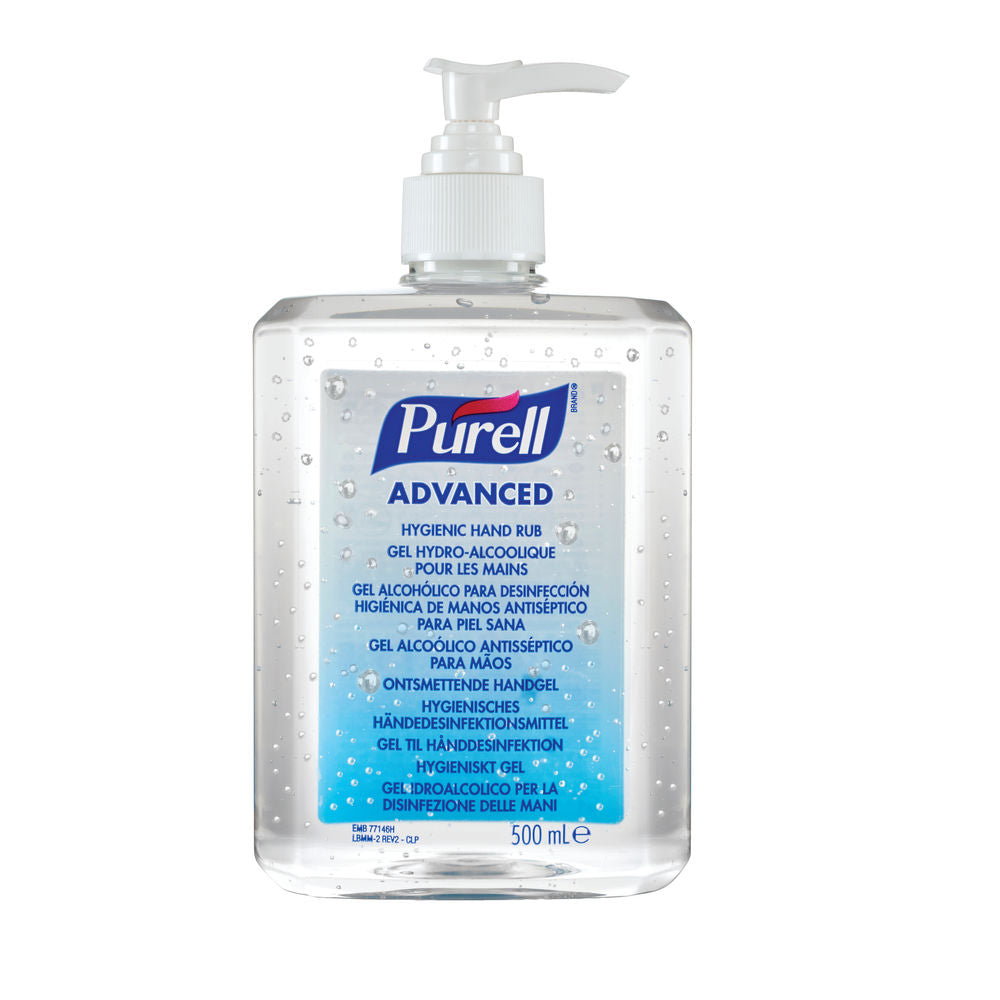 PURELL® Advanced Hygienic Anti Bacterial Hand Rub Pump Bottle 9268 - 500ML (Anti Virus)