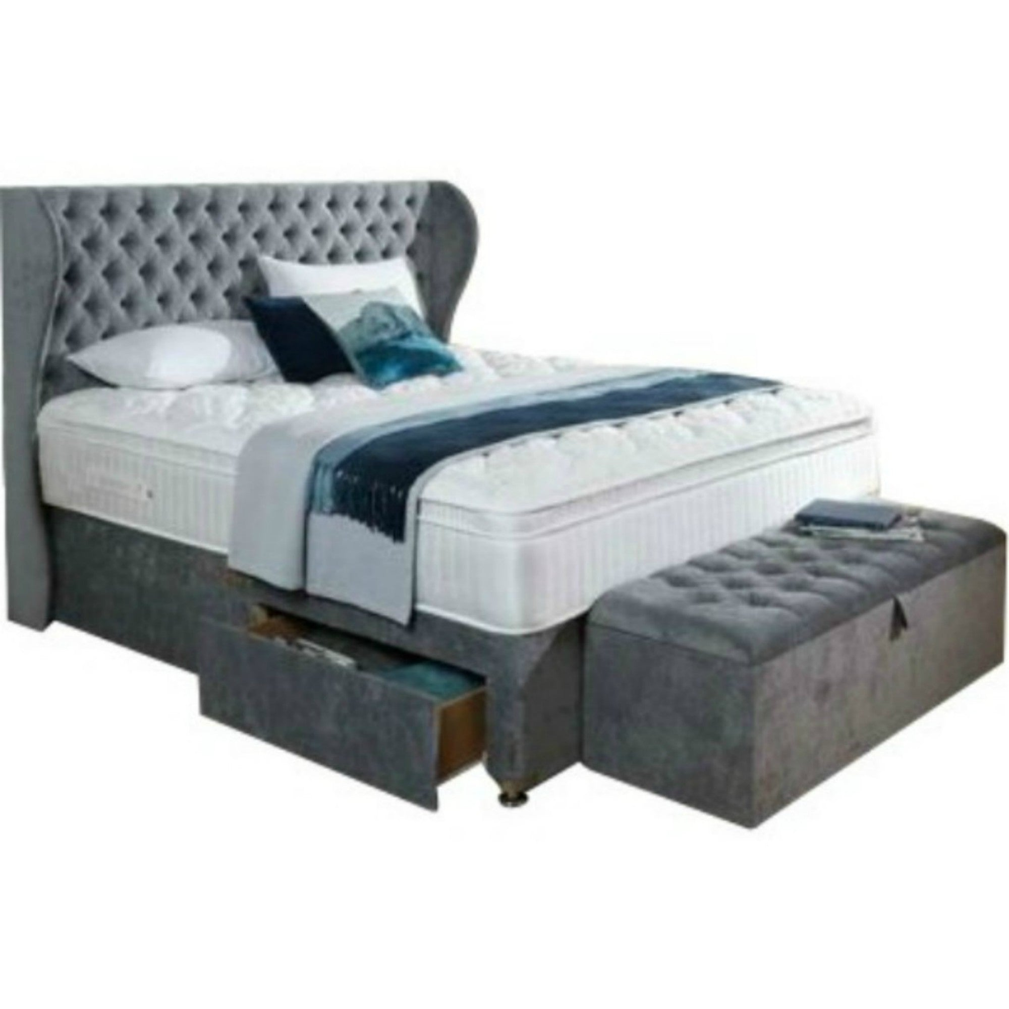 7c949a807b5d Solitaire Chesterfield Wing Bespoke Divan Storage Bed-Bed-Chic Concept