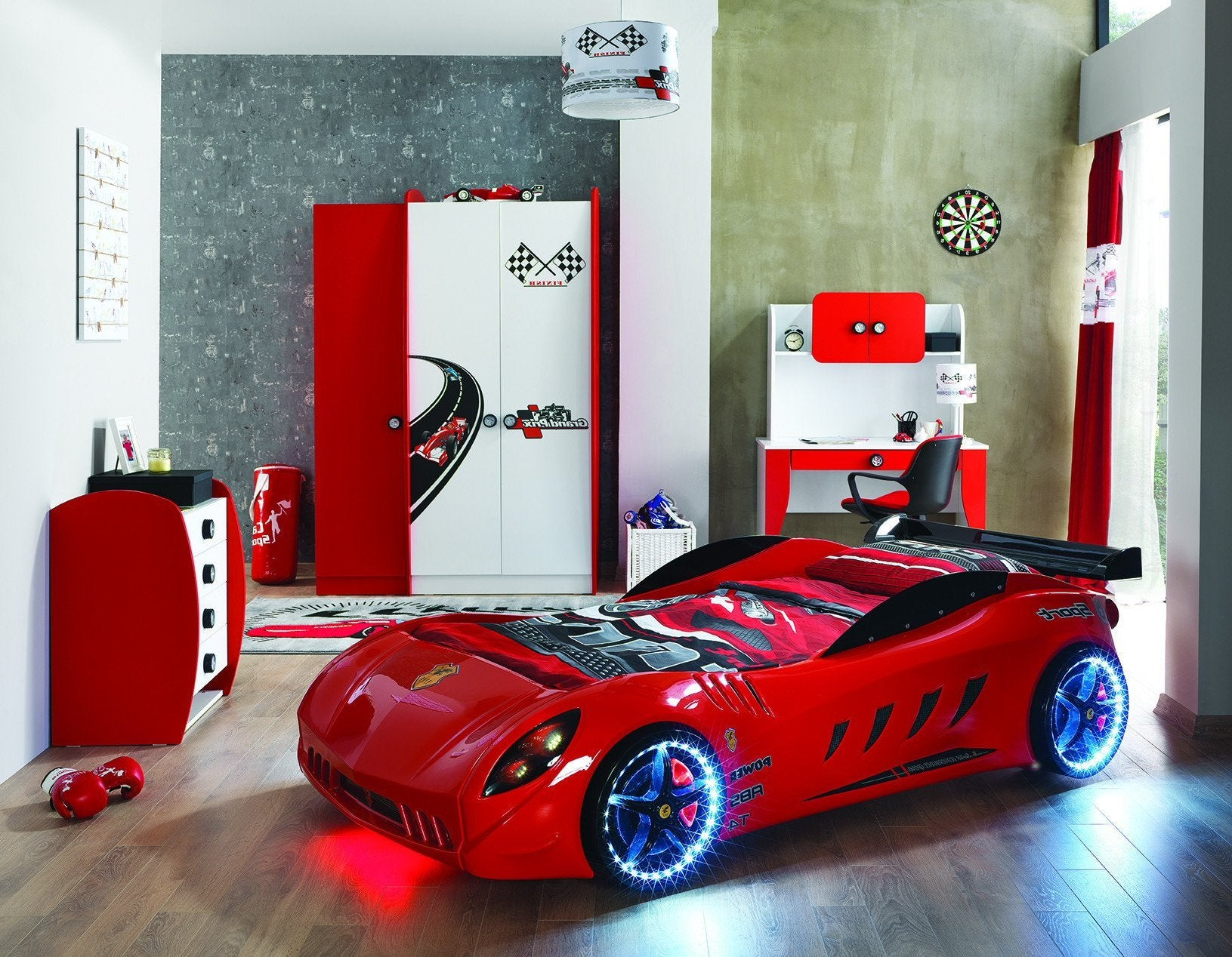 online store 484af c73e9 Children's Novelty F555 GTO Race Car Bed Red-3FT Single