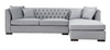 Grey Velvet Chesterfield Corner Sofa-Chesterfield Sofa-Chic Concept