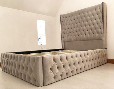 Grandeur Chesterfield Sleigh Bed-Bed-Chic Concept