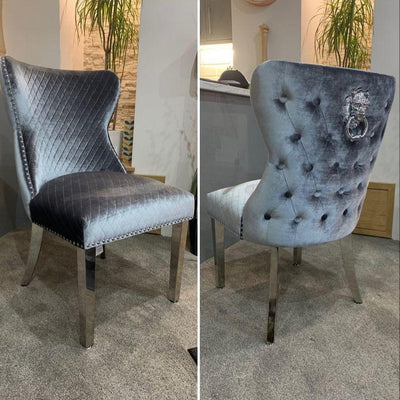Lewis Dining Chair with Chrome Legs-Dining Chairs-Chic Concept