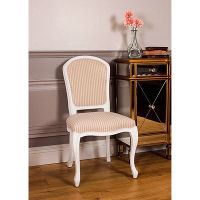 White Annabelle Natural Stripe Dining Chair-Dining Chairs-Chic Concept
