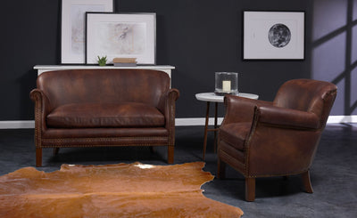Fairford Vintage Leather Sofa Sets-Leather Sofa-Chic Concept