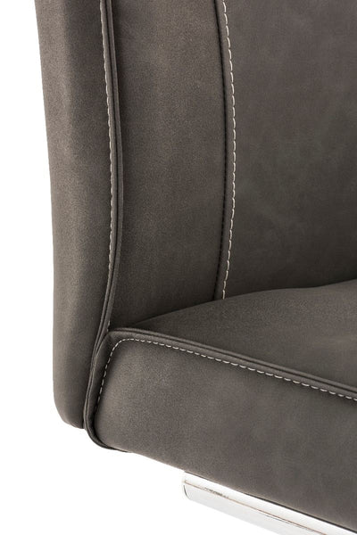 Aria Grey Faux Leather Dining Chair-Dining Chairs-Chic Concept