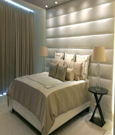 Fabric Upholstered Horizontal Design Headboard Wall Panels-Headboard-Chic Concept