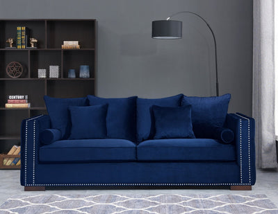 Royal Blue Velvet Moscow Sofa Sets-Fabric Sofa-Chic Concept