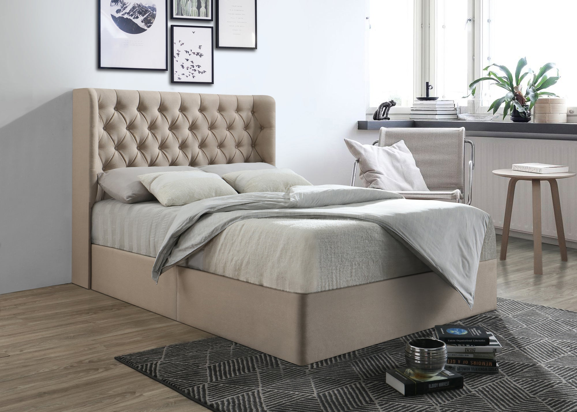 b8e38beb5783 Duke Chesterfield Wing Bespoke Divan Storage Bed-Bed-Chic Concept