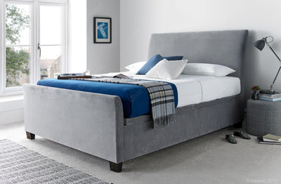4FT6 Double-Allendale Ottoman Storage Velvet Plume Bed-Ottoman Bed-Chic Concept