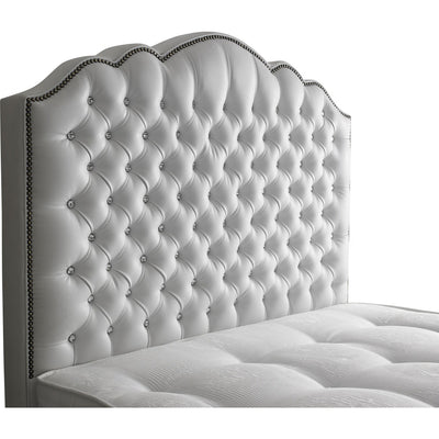 Amelia Chesterfield Curved Bespoke Traditional Leather Headboard-Floor Standing Headboard-Chic Concept