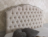 Amelia Curved Bespoke Chesterfield Buttoned Fabric Headboard-Floor Standing Headboard-Chic Concept