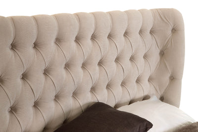 Royale Chesterfield Fabric Upholstered Winged Headboard-Headboard-Chic Concept