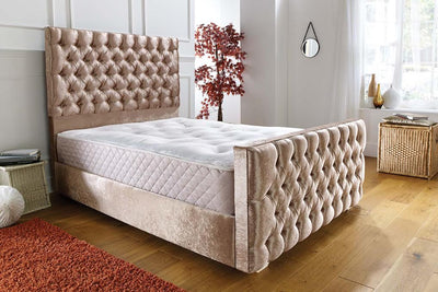 Parker Chesterfield Bespoke Sleigh Bed-Bed-Chic Concept
