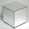 Clear Venetian Glass Cube-Mirrored Furniture-Chic Concept