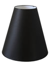 Black Silk Fabric Cone Shade-Lamp Shades-Chic Concept