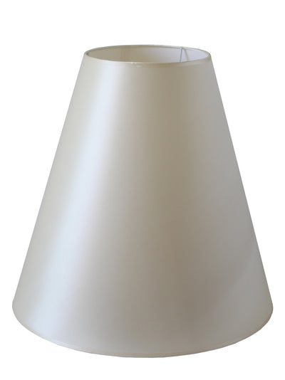 Cream Silk Fabric Cone Shade-Lamp Shades-Chic Concept