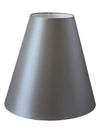 Grey Silk Fabric Cone Shade-Lamp Shades-Chic Concept