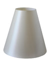 White Silk Fabric Cone Shade-Lamp Shades-Chic Concept