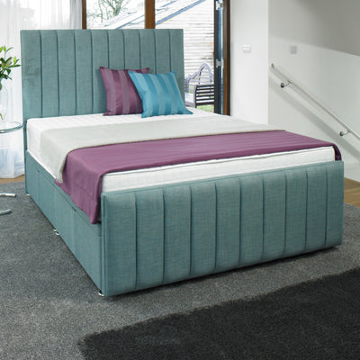 Coniston Striped Bespoke Ottoman Bed by Chic Concept