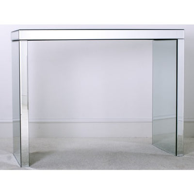 Mirrored Glass Console Table-Mirrored Furniture-Chic Concept