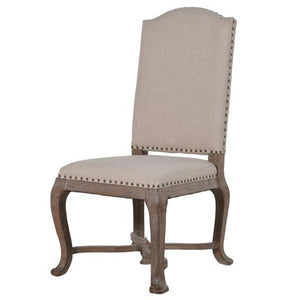 Cream Studded Dining Chair-Dining Chairs-Chic Concept