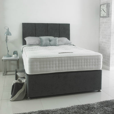 New Modern 4 Panel Headboard Divan Storage Bed with Drawers-Bed-Chic Concept