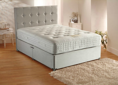 Large Cubic Headboard Divan Storage Bed with Drawers-Bed-Chic Concept