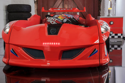 Children's Novelty Thunder Race Car Bed Red-3FT Single-Children's Bed-Chic Concept