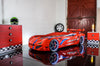 Children's Novelty Flash GT Car Race Bed Red-3FT Single-Children's Bed-Chic Concept