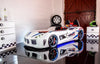 Children's Novelty GT Turbo Race Car Bed White-3FT Single-Children's Bed-Chic Concept