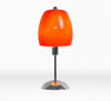 Modern Umbrella Chrome Base Orange Table Lamp-Table Lamp-Chic Concept