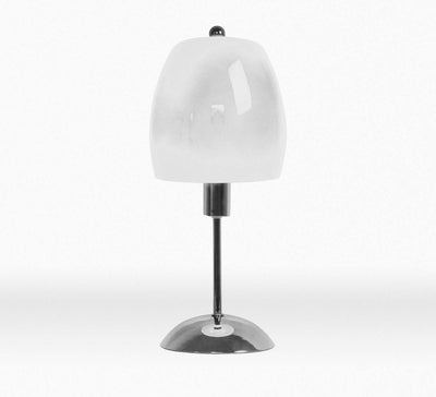Modern Umbrella Chrome Base White Table Lamp-Table Lamp-Chic Concept