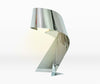 Contemporary Chrome Metal Twisted Ribbon Table Lamp-Table Lamp-Chic Concept