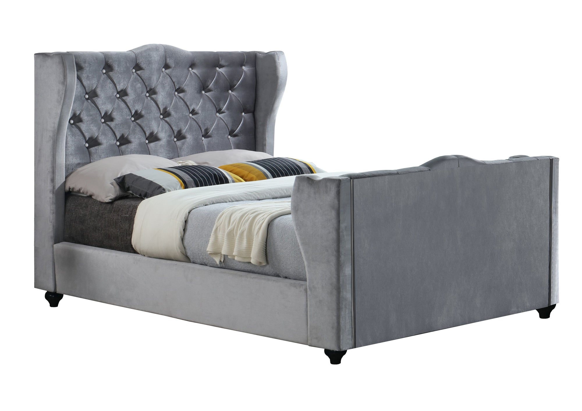 Majestic Chesterfield Upholstered Sleigh Bed Sleigh Bed Chic Concept