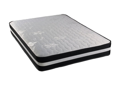 3FT Single-Black and Silver Quilted Border Open Coil Memory Foam Orthopaedic Mattress-Orthopaedic Mattress-Chic Concept