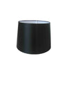 Black Silk Fabric Empire Drum Shade-Lamp Shades-Chic Concept