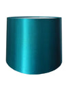 Teal Silk Fabric Empire Drum Shade-Lamp Shades-Chic Concept
