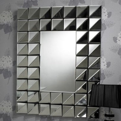 Rectangular Multi-Facet Angled Mirror-Multi Facet Mirror-Chic Concept