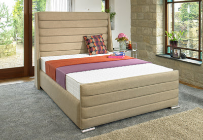 Hornby Wing Back Bespoke Sleigh Bed-Bed-Chic Concept