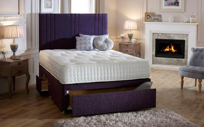 Luca Headboard Divan Storage Bed with Drawers-Divan Bed-Chic Concept