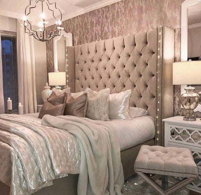 Serenity Chesterfield Wing Bespoke Divan Storage Bed-Bed-Chic Concept
