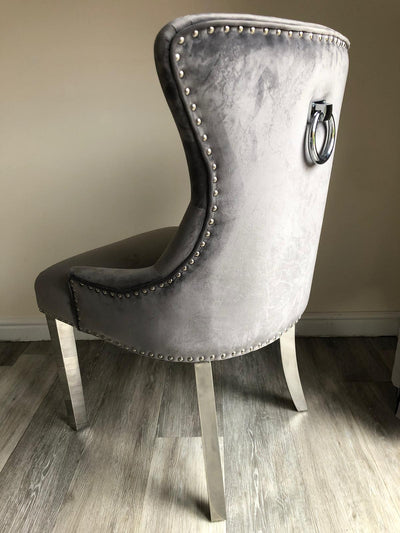 Chelsea Dining Chair with Chrome Legs-Dining Chairs-Chic Concept
