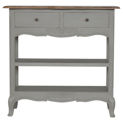2 Drawer Hand-Painted Console Table-Console Table-Chic Concept