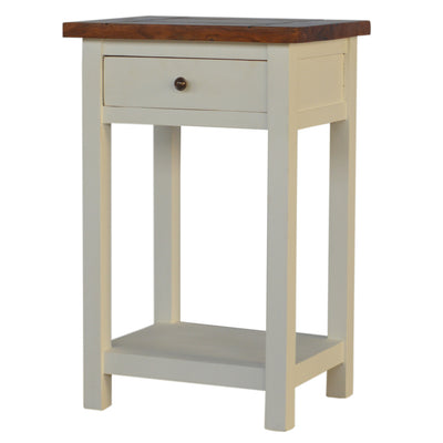2 Toned Bedside Table with 1 Drawer-Bedside Cabinet-Chic Concept