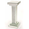 Glitz Mirrored Diamante Column Table-Mirrored Furniture-Chic Concept