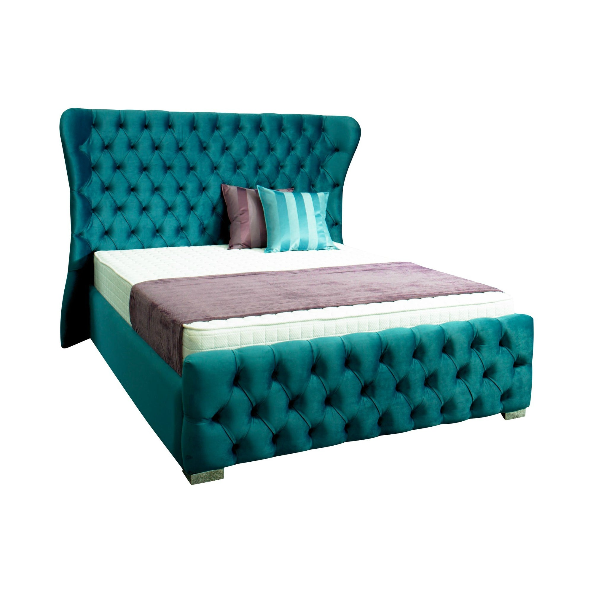 Kendal Chesterfield Bespoke Sleigh Bed Chic Concept