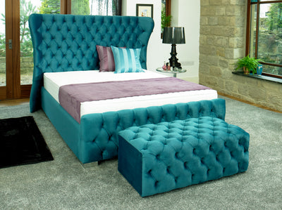 Kendal Chesterfield Bespoke Sleigh Bed-Bed-Chic Concept