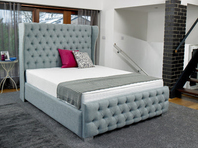 Keswick Chesterfield Bespoke Sleigh Bed-Bed-Chic Concept